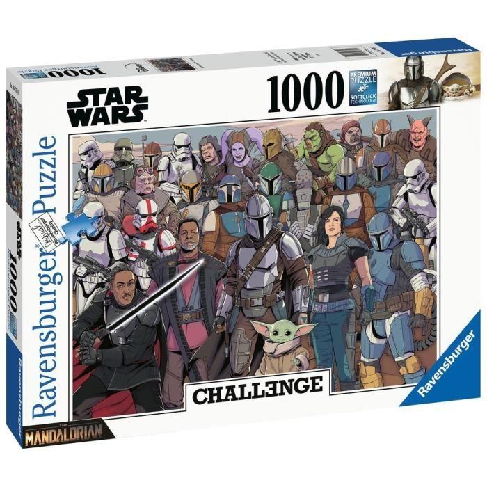 STAR WARS Puzzle 1000 pièces - Baby Yoda - Ravensburger - Puzzle adultes - Collection Challenge Puzzle - Dès 14 ans