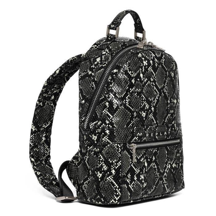 Backpack REPLAY White Black [91696]