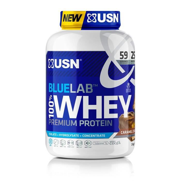 USN Blue Lab Whey Chocolat-Caramel USNBLW15 - Bleu et blanc - 2 kg