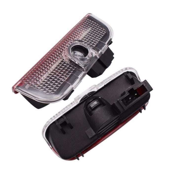 PC32684-For GTI no cable -2X Voiture Porte de Bienvenue Pour vw golf 5 6 7 MK5 MK6 MK7 R32 Passat B6 B7 Tiguan CC MAGOTAN LED Voit