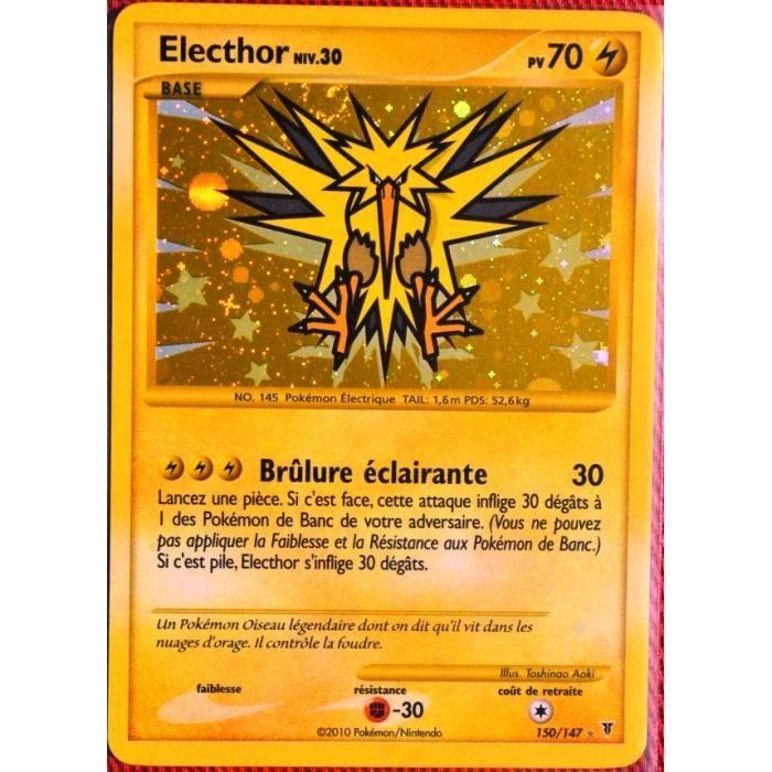 Carte Pokemon 150 147 Electhor 70 Pv Serie Platine Vs Neuf Fr Achat Vente Carte A Collectionner Cdiscount
