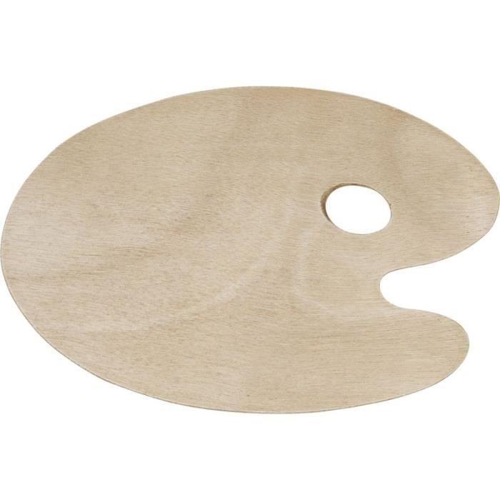 PALETTE PEINTURE Palette ovale en bois - 20 x 30 cm