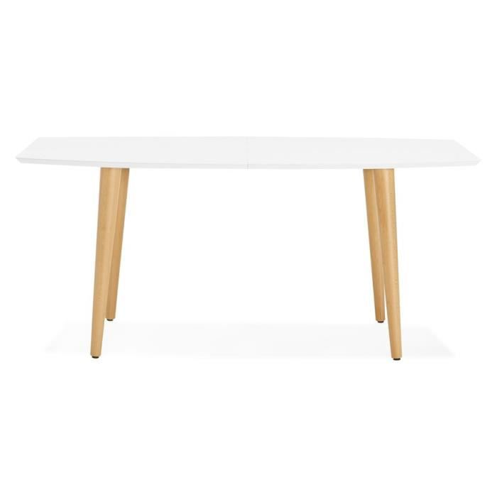 TABLE À MANGER SEULE Table à dîner design extensible 'ESKIMO' style sca