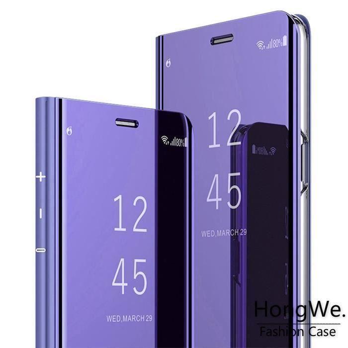 Coque Samsung S9 Plus,Miroir Antichoc Clear View E