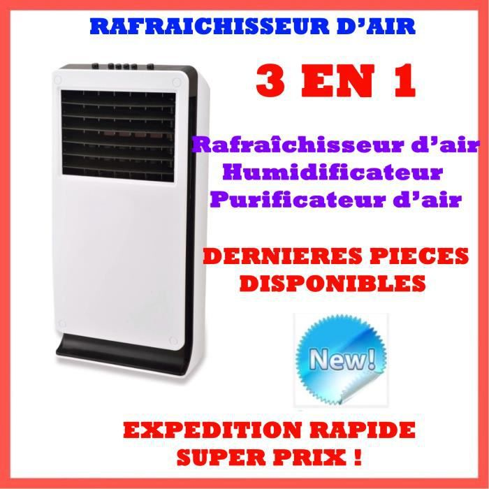 rafra chisseur d 39 air climatiseur mobile r versible 25 m 3 en 1 rafra chisseur humidificateur. Black Bedroom Furniture Sets. Home Design Ideas
