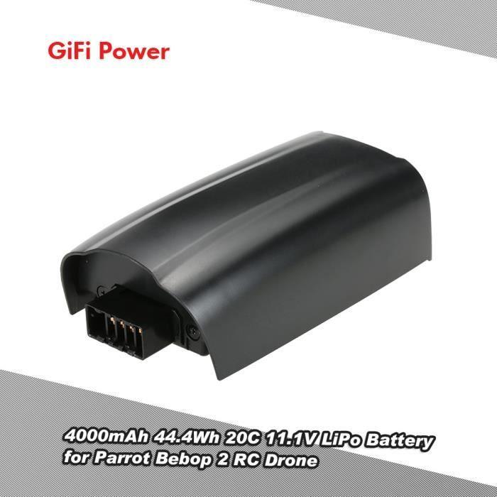 Gifi Power 4000mah Lipo Batterie 44 4wh 20c 11 1v Pour Parrot Bebop 2 Rc Drone Achat Vente Piece Detachee Drone Cdiscount