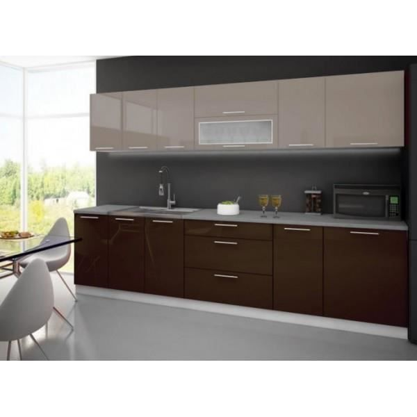 cuisine compl te 3m tarn bicolore cappuccino chocolat achat vente cuisine compl te cuisine. Black Bedroom Furniture Sets. Home Design Ideas