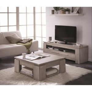 ensemble table basse meuble tv achat vente pas cher. Black Bedroom Furniture Sets. Home Design Ideas