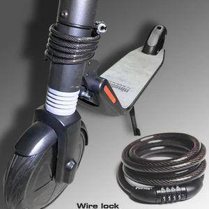 ANTIVOL - BLOQUE ROUE Câble antivol pour pneu antivol avec fil d'acier p
