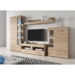 meuble salon chene clair achat vente pas cher. Black Bedroom Furniture Sets. Home Design Ideas