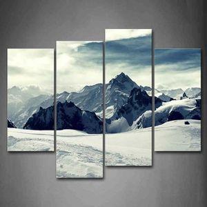 Affiche Photos sur toile/ /120/x 40/cm Alpes Montagnes Sommet de Montagne neige