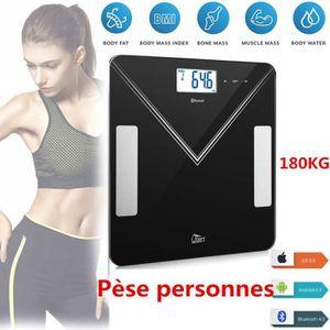 PÈSE-PERSONNE Pèse Personne Impédancemètre 180kg, Balance Blueto