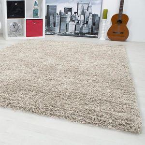 TAPIS Tapis Life Shaggy haute pile - Beige - 200 x 290 c