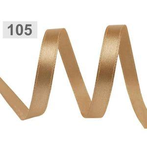 Plusieurs coloris Bobine 22m ruban satin à bordure dorée Largeur 7 mm