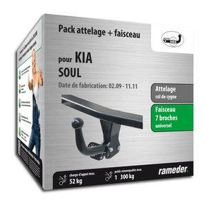 Faisceau Universel 7 Broches Col de Cygne boitier /électronique Auto-Hak Attelage Kia Soul 04//14-