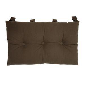 COUSSIN Tête de lit coussin 100% coton uni - 50x70 cm - Ma
