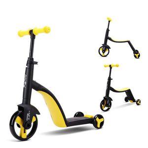 DRAISIENNE Jaune Enfants Scooter Tricycle bébé 3 en 1 Balance