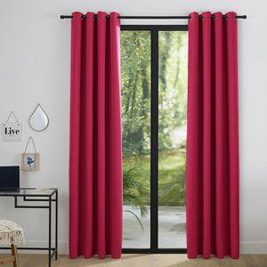 RIDEAU Lot de 2 rideaux occultant rouge 140 x 260 cm Roug