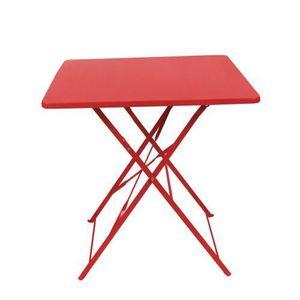TABLE DE CAMPING Table Carree Pliante Fun Rouge 70 x 70 cm
