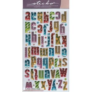 scrapbooking alphabet achat vente scrapbooking alphabet pas cher cdiscount. Black Bedroom Furniture Sets. Home Design Ideas