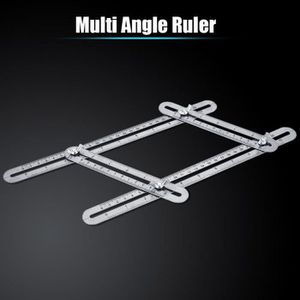 Nouvelle alliage d/'aluminium six-Pliant Règle Multi Angle Ruler Verre Carrelage Trou Locat C//