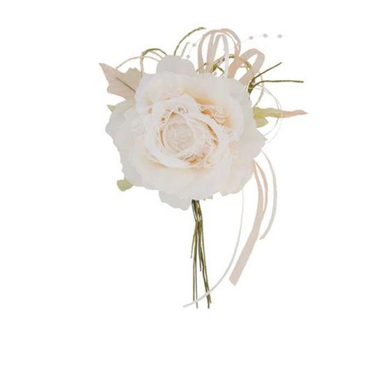 Foam Roses Lot de 20 roses en mousse sur tiges en fil Cr/ème//ivoire 2,5/cm