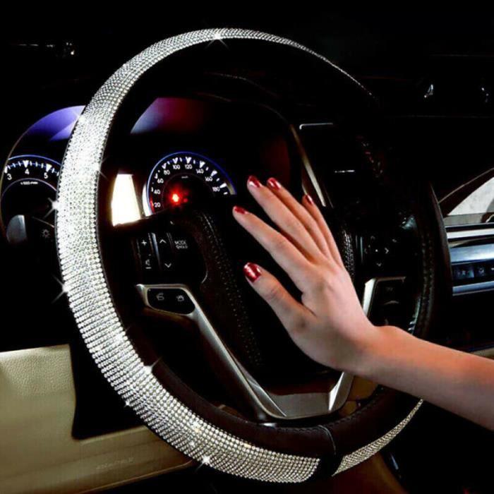 Housse PU pratique antidérapant de volant de voiture universel en Crystal Sparkle COUVRE-VOLANT 0S060B01