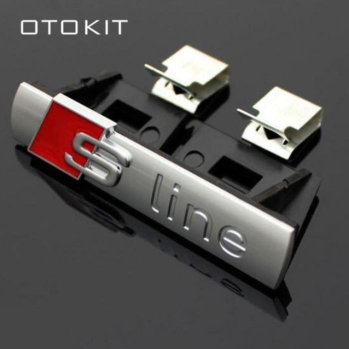 3d S-Ligne Sline Avant Grille Emblème Badge Chrome En Plastique Abs Calandre Autocollant Accessoires Pour Audi A1 A3 A4 B6 B8 B5 B7