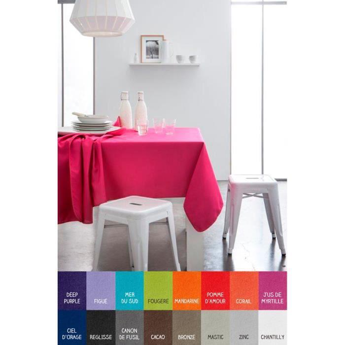 Nappe rectangle - 140 x 200 cm - Today - Différents coloris Mastic