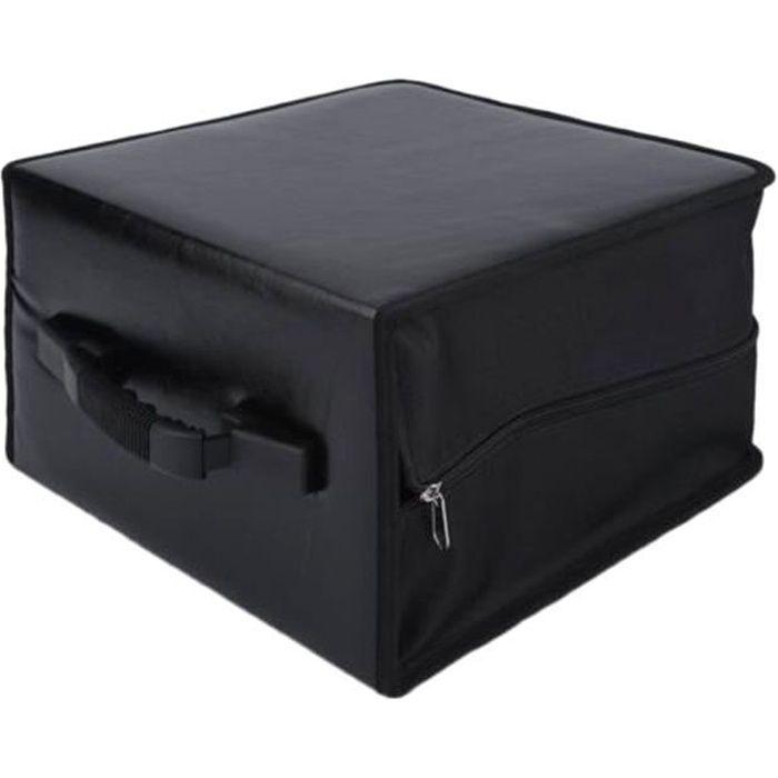 520 disques portable CD DVD porte-portefeuille sac étui album organisateur boîte de rangement multimédia (noir)