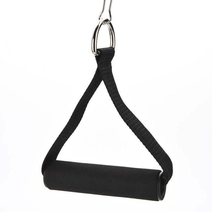 1 pièces D anneau de traction corde poignée bras Tricep Pulldown entraînement corde poignée V barre gymna - HSJSTLDC07504