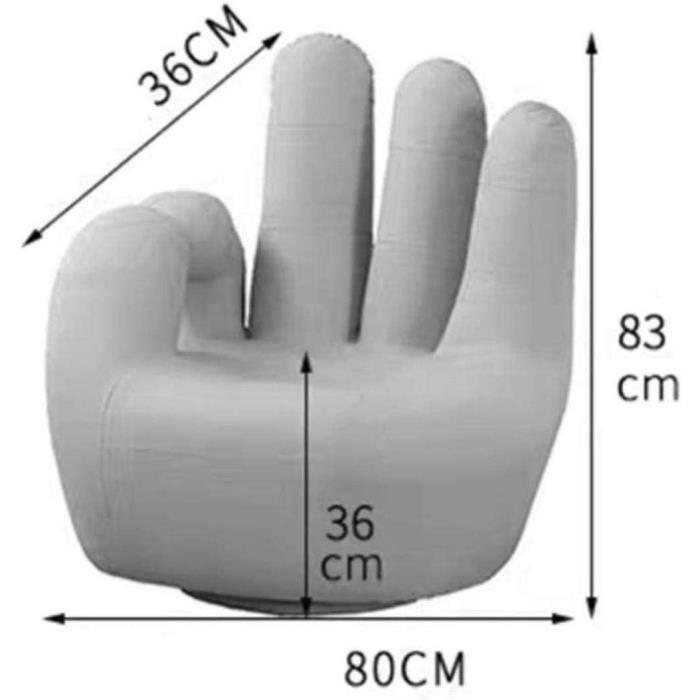 GCX- Cinq Doigts Sofa Lazy Sofa Chambre Simple, Chaise Thumb Petit Appartement Cartoon Rotatif Finger Sofa Confortable (Color [394]