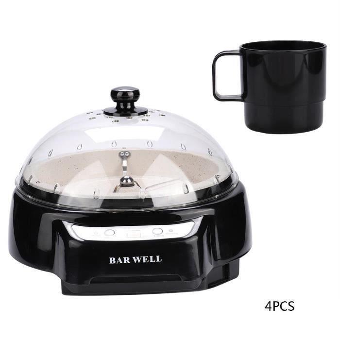 BOYOU Machine à café torréfacteur domestique Machine à torréfaction de grains de café électriques (prise EU noire)