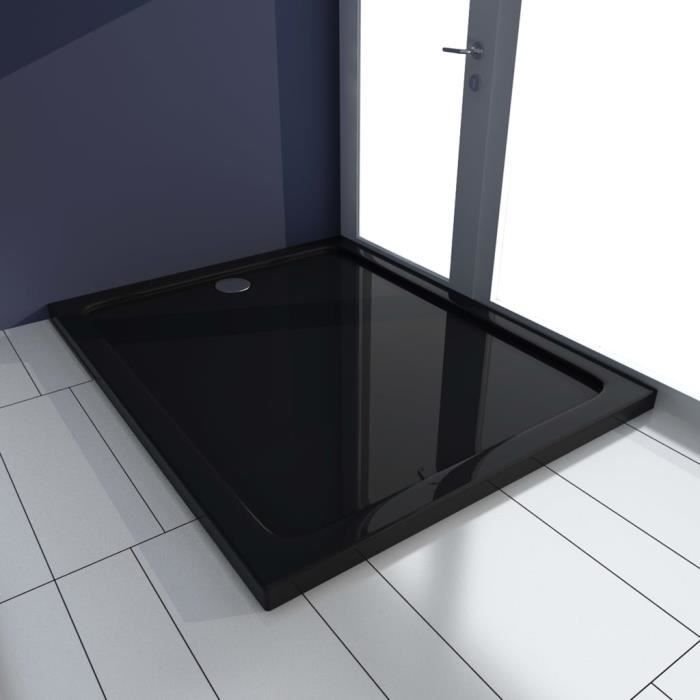 Magnifique Economique Receveur de douche Bac de douche - ABS Noir 80x100 cm