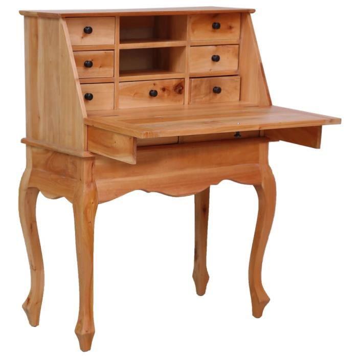 FNCM® Bureau Design Moderne - Bureau d'ordinateur Table de bureau secrétaire 78x42x103 cm Bois d'acajou massif ❤1459