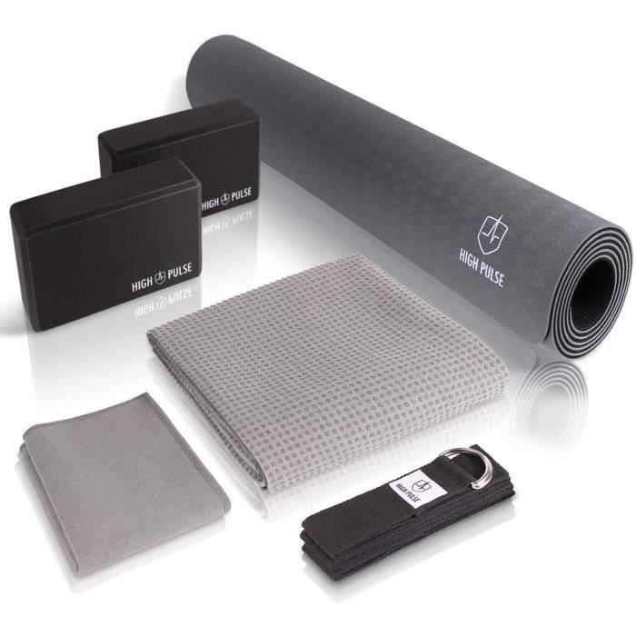 TAPIS DE YOGA Pulsereg Kit Yoga avec Tapis de Yoga 2 Blocs de Yoga Serviette de Yoga avec Picots antideacuterapants et Serviett163