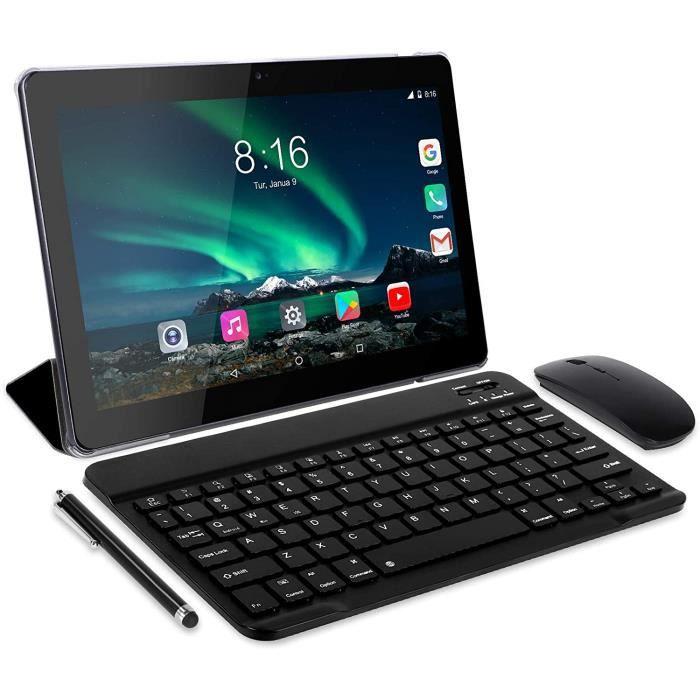 4G Lte Tablette Tactile 10 Pouces Beista W109 Android 7.0, Quad Core,4G Doule Sim,32 Go,3 Go Ram,Wifi/Bluetooth/Gps/,Double Gris
