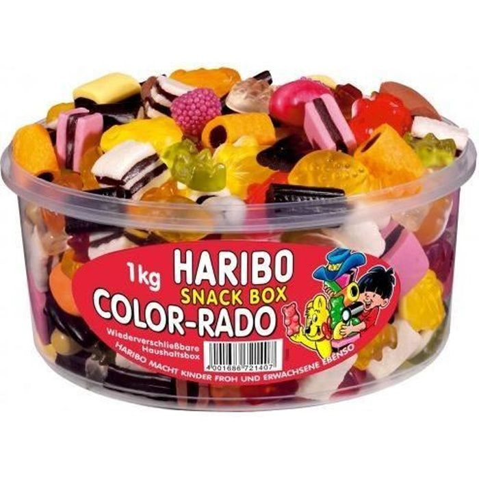 Haribo Color-Rado fruit gommes réglisse 1 kg