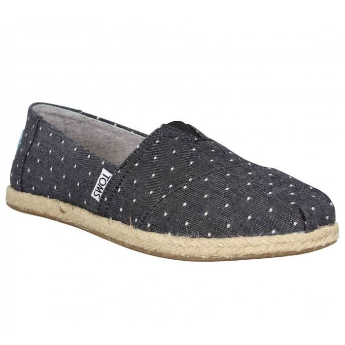 Espadrilles TOMS Classic toile Femme-37,5-Chambray
