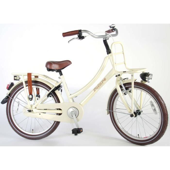 Vélo Enfant Fille 20 Pouces Excellent Frein Avant sur Le Guidon et Le Frein Arrière à Rétropédalage Blanc Perle 95% Assemblé