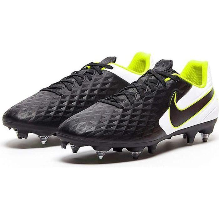 Nike Tiempo Legend 8 Académie Sg-Pro Anti-sabot Trac Chaussures de Football Homme - Noir - Blanc - Jaune, 40
