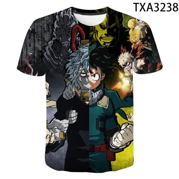 T-shirt bricolage,T-shirt à manches courtes My Hero Academia pour hommes, femmes et enfants, humoristique, Anime, été, 2021