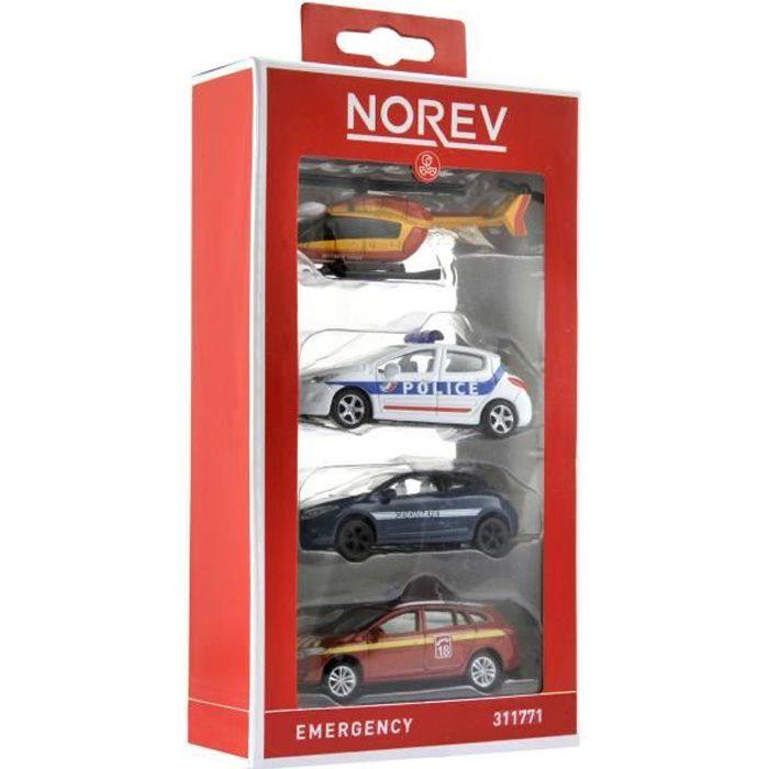 NOREV Assortiment de 4 voitures miniatures d'Urgence