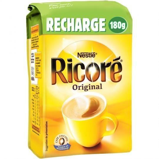 RICORE Café chicorée solubles recharge de 180 g