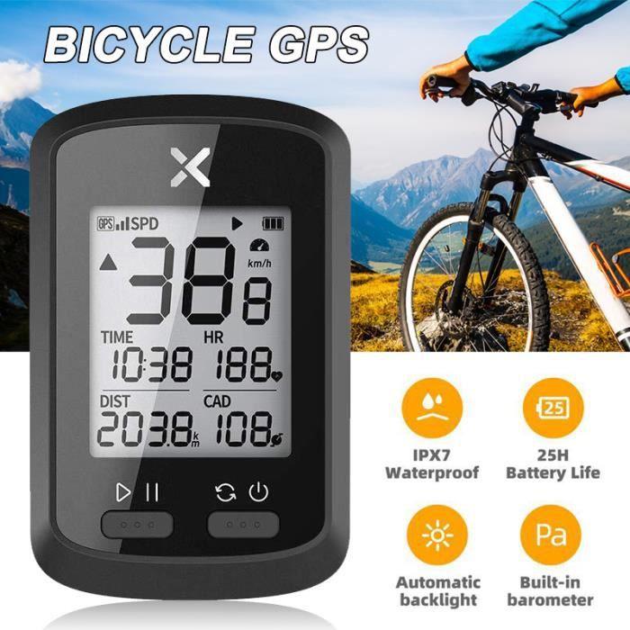 GPS de Vélo Affichage LCD Compteur de Vitesse Odomètre Vélo De Montagne De Route pour vélo de route VTT étanche - version anglaise