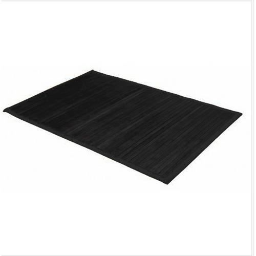 tapis color en bambou 60 x 90 cm noir achat vente. Black Bedroom Furniture Sets. Home Design Ideas