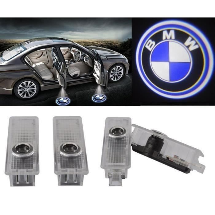 4pcs 2 Pairs Led De Porte De Voiture Projecteur Led Logo