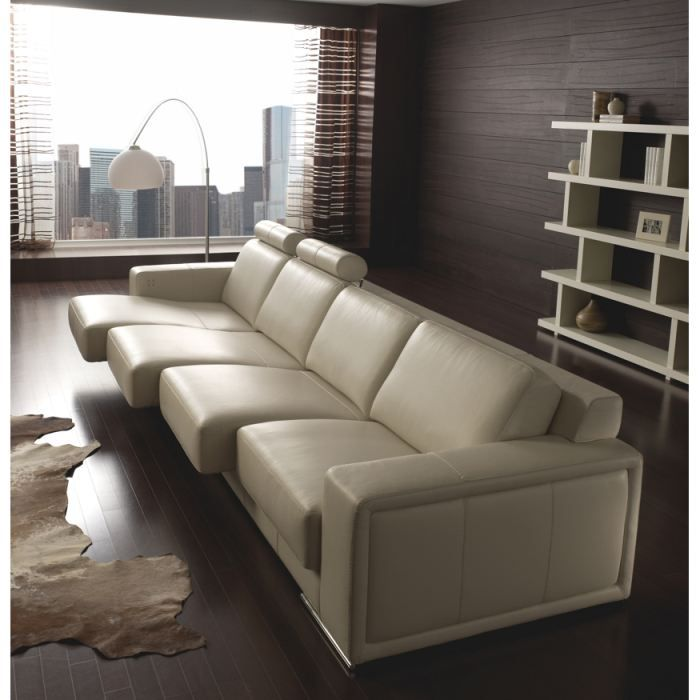 Canap 4 places empire cuir achat vente canap sofa for Canape 4 places electrique