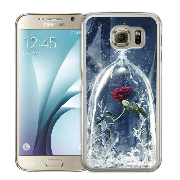 Coque Samsung Galaxy S6 Edge Rose la Belle et la Bête - Cdiscount ...