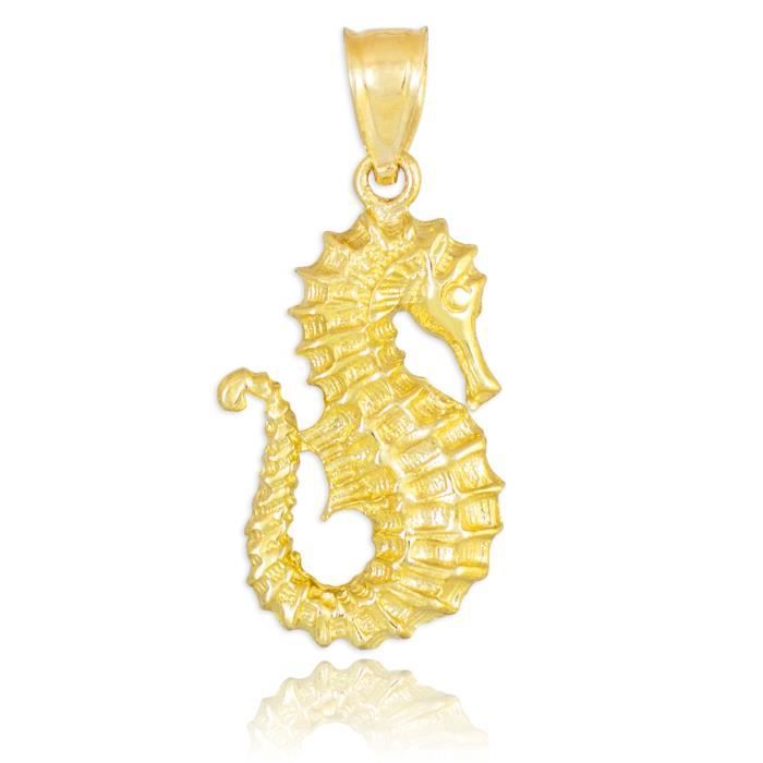 Collier Pendentif14 ct Or 585/1000Hippocampe